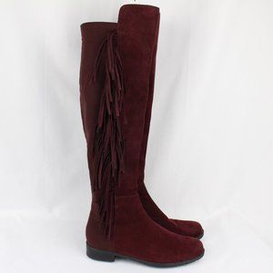 Marc Fisher Knee High Burgandy Suede Riding Boots